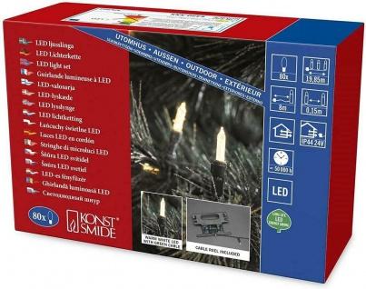 Konstsmide LED Lichterkette 80er warmweiß IP44 24V 19, 85m 5420-179