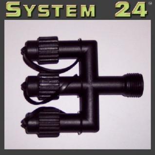 System 24 LED E-Verteiler Connector extra schwarz 490-20 außen xmas