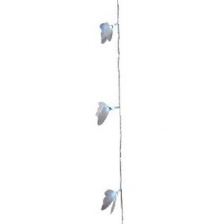 LED Fiberoptik-Schmetterling-Lichterkette 12er weiss Blachere A795