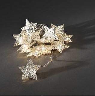 LED Deko Lichterkette silberne Sterne16er innen 1, 8m Konstsmide 3171-303