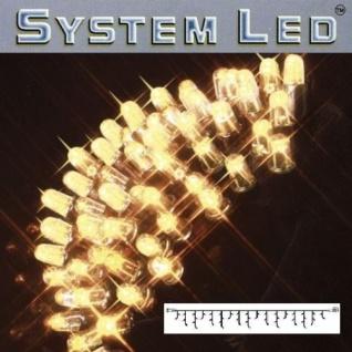 System LED Eisregen-Lichterkette Extra 3x0, 4m warmweiß/schwarz 465-46