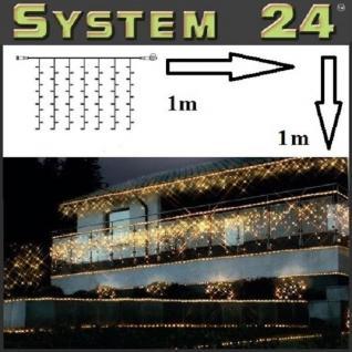 System 24 LED Lichtervorhang 49er extra 1x1m warmweiß 491-90 außen xmas