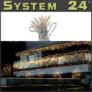 System 24 LED Lichterkette 5m start inkl. Trafo warmweiß 492-06 außen xmas