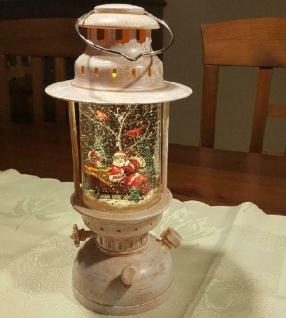 LED Schneelaterne Weihnachtsmann Sturmlaterne wassergefüllt Peha PT-22120 xmas