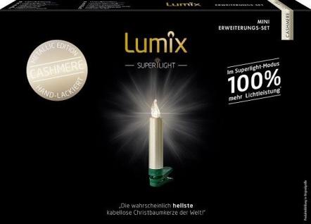 Kabellose Christbaumkerzen Lumix Mini Metallic Cashmere Erweit. Superlight 75555