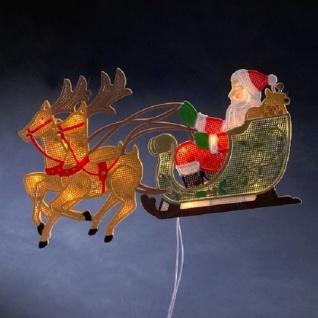 LED Fenstersilhouette Rentier Weihnachtsman Schlitten Konstsmide 2853-010 xmas - Vorschau