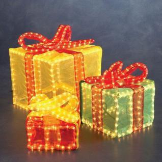 3D Lichtschlauch Silhouette Geschenkwürfel bunt Konstsmide außen 2214-500 xmas