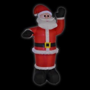 LED Air-Blown Weihnachtsmann 1, 8m selbstaufblasend IP44 aussen HI 54113 Xmas