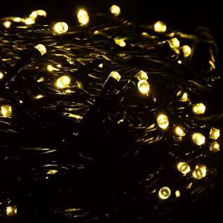 LED Timer Lichterkette 100er warmweiß / grün 10m außen BA11226 xmas