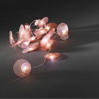 LED Dekolichterkette 20er Pink 1, 7m Batteriebetrieben Konstsmide 3167-343