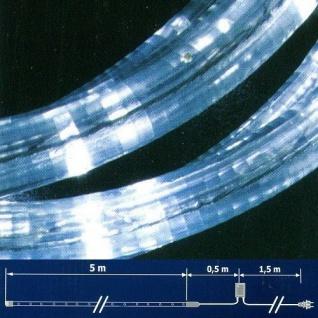 LED Lichtschlauch Lichterschlauch 5m Blinkfunktion weiss NLED05