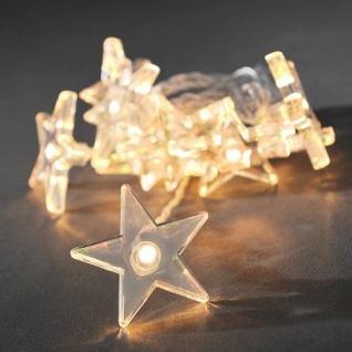 LED Deko Lichterkette 10er Sterne klar Batterie warmweiss 1405-103