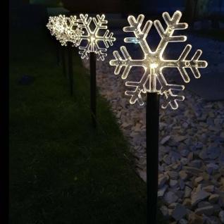 5 LED Leuchtstäbe warmweiß Schneeflocke Batterie, Timer außen 35, 5 x140cm 35075