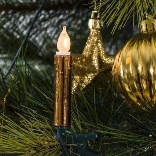 Weihnachtsbaumbeleuchtung 20er Lichterkette kupfer gefrostet 2316-600 innen