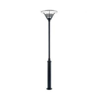Alu Standleuchte GEMINI schwarz mit opalem Glas Konstsmide 517-750
