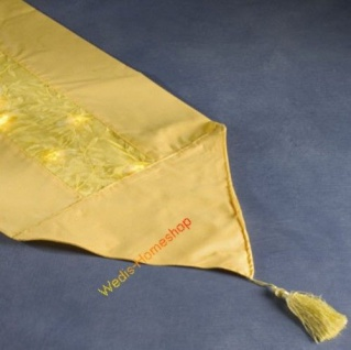 Tischläufer Organza gelb mit 20'er LED Konstsmide 1352-000