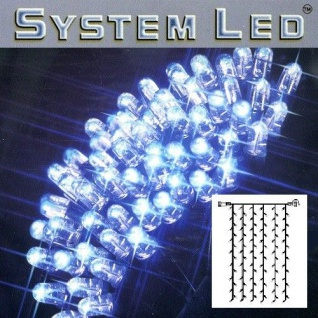 System LED Lichtervorhang extra 102er 1x2m blau / schwarz 465-59