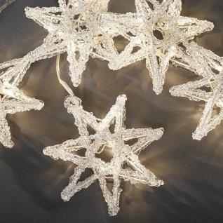 LED Acryl Lichtervorhang Stern 5er warmweiß Konstsmide 4433-103
