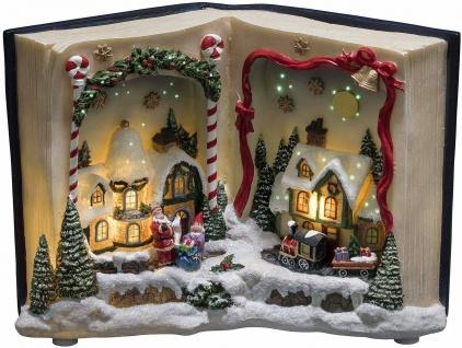LED Fiberoptik-Szenerie Buch mit Landschaft Weihnachtslieder Konstsmide 3435-000