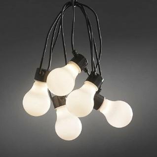 LED Biergartenkette weiß 20 Birnen 160 warmweiße Dioden außen IP44 2389-120