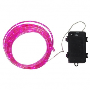 LED Mini-Lichtschlauch TUBY 5m pink Batterie Timer 857-21