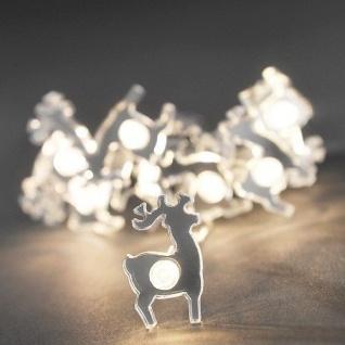 LED Deko Lichterkette 10er Rentier Batterie warmweiß innen 3184-103