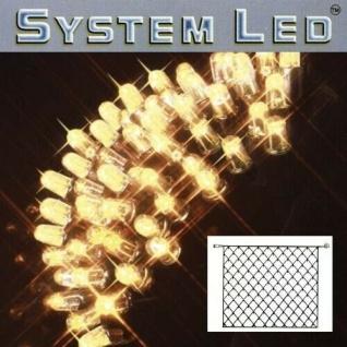 System LED Lichternetz 3x3m 192er warmweiss Kabel schwarz 465-16-33