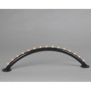 Lichterbogen 15er LED warmweiss schwarz Batterie / Trafo 191-80
