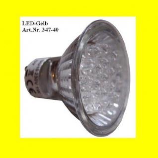 LED Leuchtmittel 230V 1W gelb GU10 mit Reflektor Best Season 347-40