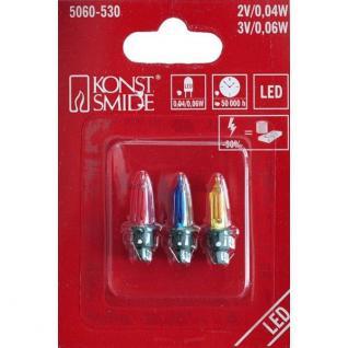 LED Ersatzbirnen für Außenlichterkette 40-200er bunt 3V 0, 06W 5060-530 xmas