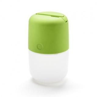 Camping Solar LED Leuchte ASSISI mit 3-Stufen Dimmer USB-Kabel grün 7805-602