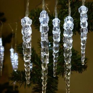 LED Eiszapfenlichterkette 3m 20 Zapfen kaltweiß außen FHS 03210 xmas
