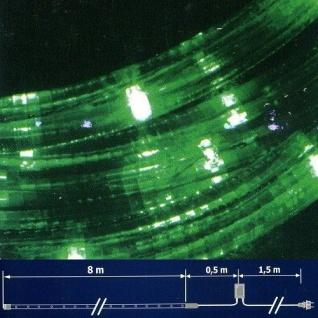 LED Lichtschlauch Lichterschlauch 8m Blinkfunktion grün NLED08V