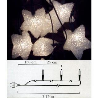 Weihnachts-Lichterkette 20 weisse Sterne Mini-Birnen innen 1315-200 xmas