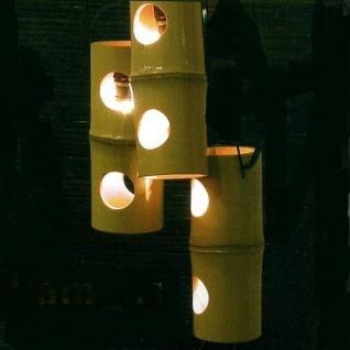 Natur Bambus Party-Lichterkette 10er 9m Kabel schwarz Blachere JFLA5