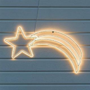 LED Fenstersilhouette Komet 82x37, 5x2cm 384er warmweiß außen Konstsmide 3079-102