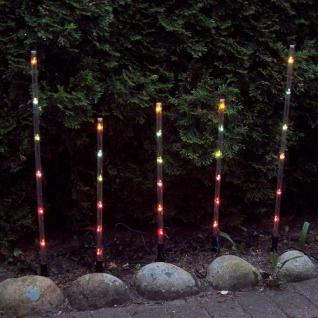 Leuchtstäbe 5er Set 30 Birnen bunt Konstsmide P1205-500 - Vorschau