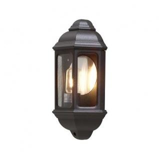 Alu Wandleuchte CAGLIARI schwarz E27 außen Konstsmide 7011-750