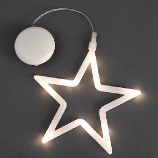 LED Fensterbild Silhouette Stern innen Deko Konstsmide 1296-103 xmas