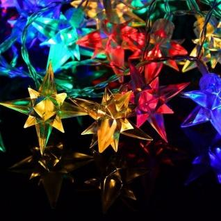 LED Sternen-Lichterkette bunt 40er 3, 9m Transparentes Kabel BA11423 xmas