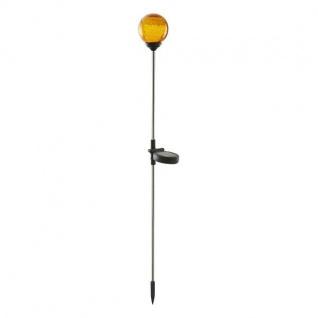 LED Solarleuchte Solarstab ROMA Glaskugel orange 68cm amber außen 479-79