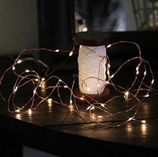 LED-Draht Lichterkette Kupfer Dew Drops 40er warmweiß Batterie 728-21