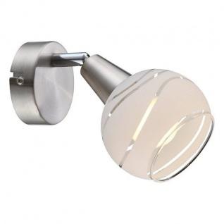 Globo LED Strahler ELLIOTT 1-flammig 400lm 3000K Nickel matt Glas 54341-1