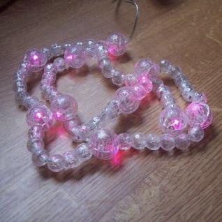 Deko LED Perlen-Lichterkette pink 10er Batterie innen BI11312