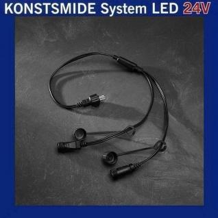 Y-Verteiler 1 Eingang 2 Ausgänge Konstsmide 24V LED Hightech-System 4602-007