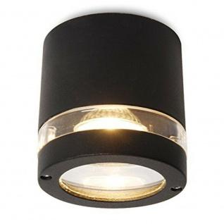 Lutec Alu Halogen Deckenleuchte FOCUS schwarz Eco-Light 6042-GR