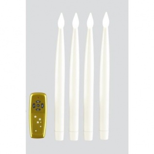 LED-Leuchtkerzen 29cm lang warmweiß innen Fernbedienung 003-20 xmas