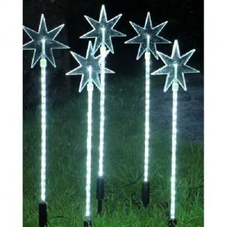 LED-Leuchtstäbe mit Stern 5er Set 5x20 LEDs 40cm hoch 08178