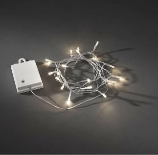 LED Dekolichterkette 20er 2, 4m Lichtsensor Timer aussen Konstsmide 3722-103