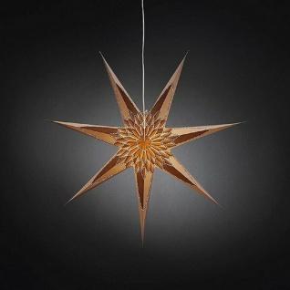 Weihnachtsstern 78cm weiß Muster goldbraun Kabel-Schalter innen 2984-280 xmas